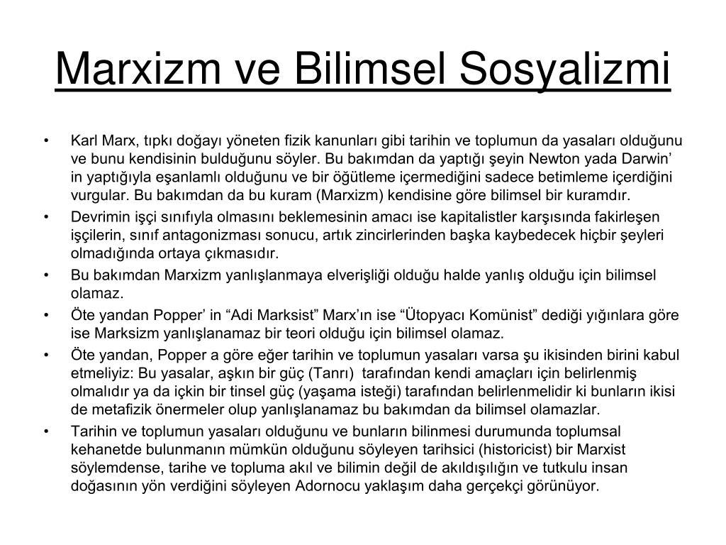 Marxizm ve Bilimsel Sosyalizmi