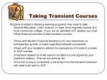 taking transient courses