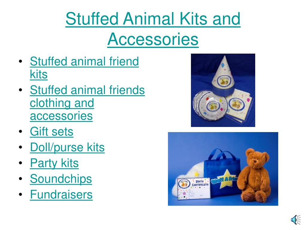 Stuffed Animal Kits and Accessories
