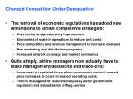 changed competition under deregulation