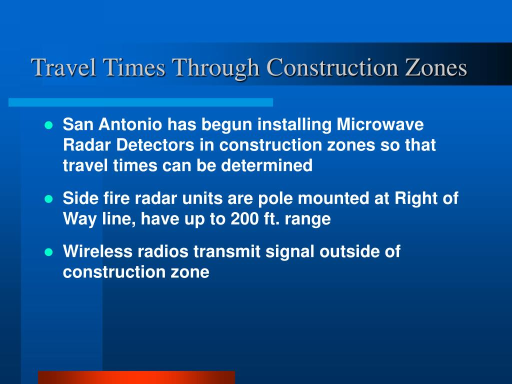 Travel Times Through Construction Zones