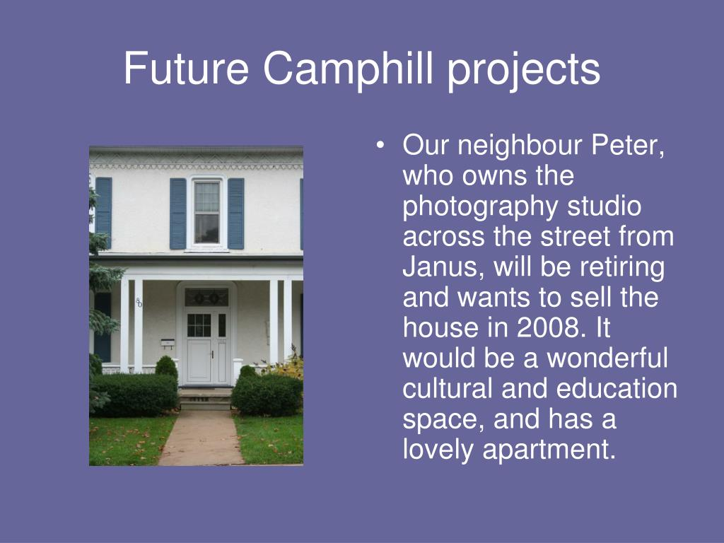 Future Camphill projects