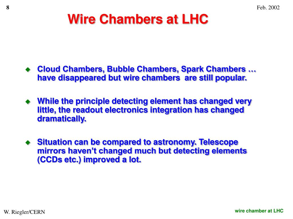 Wire Chambers at LHC