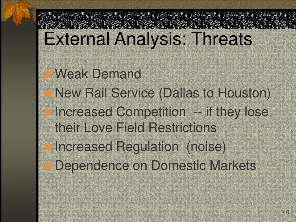 External Analysis: Threats