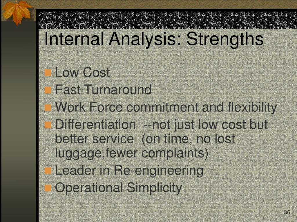 Internal Analysis: Strengths