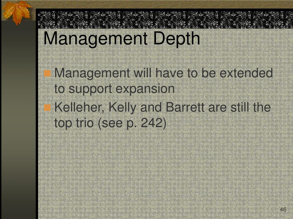 Management Depth