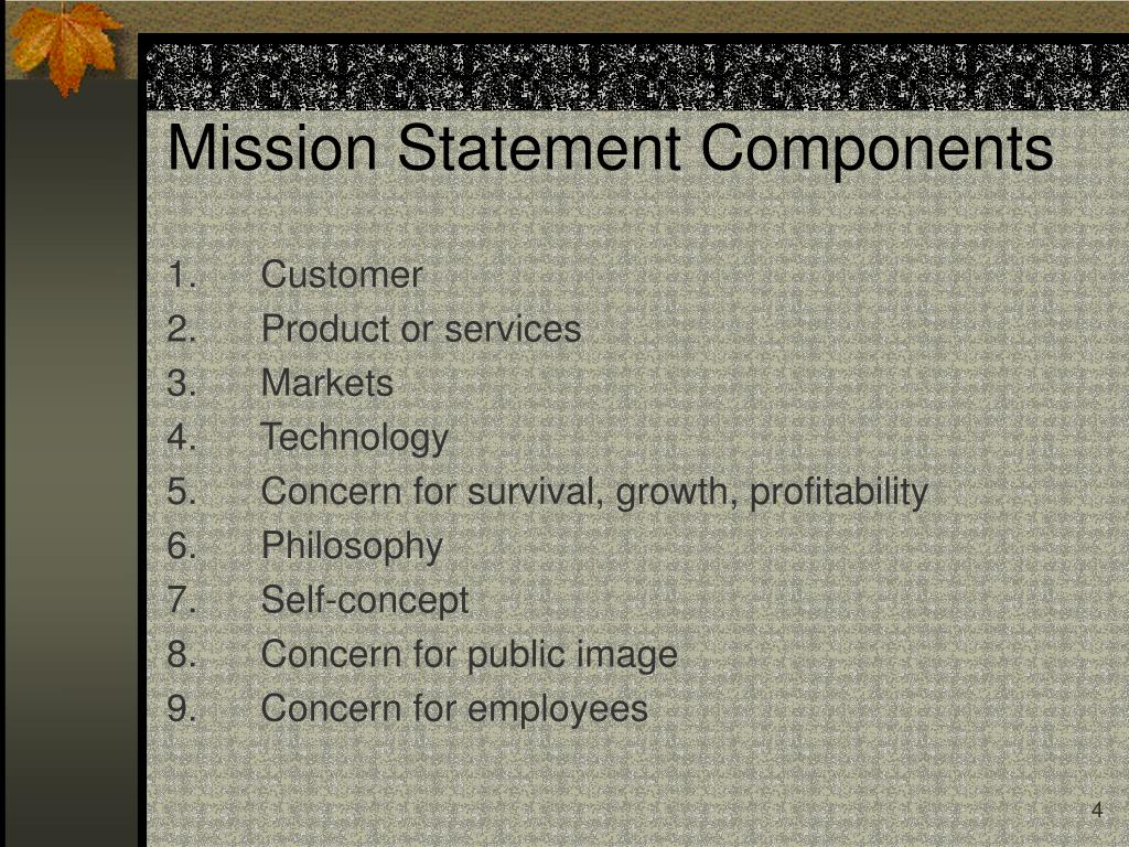 Mission Statement Components