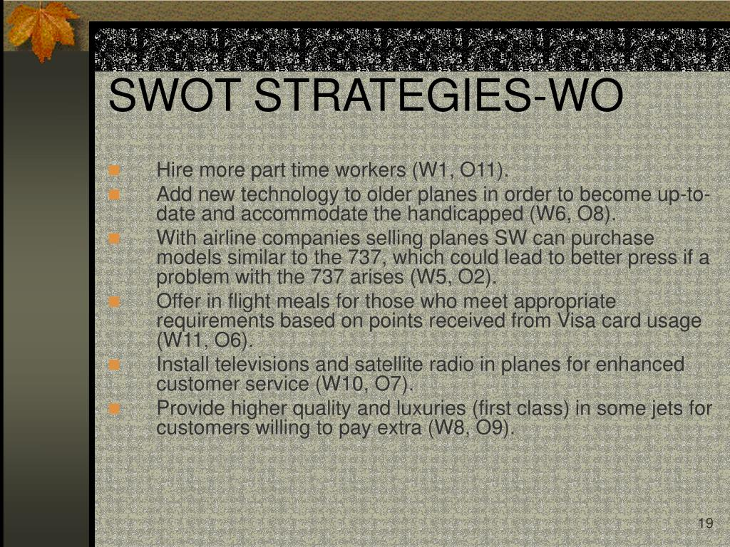 SWOT STRATEGIES-WO