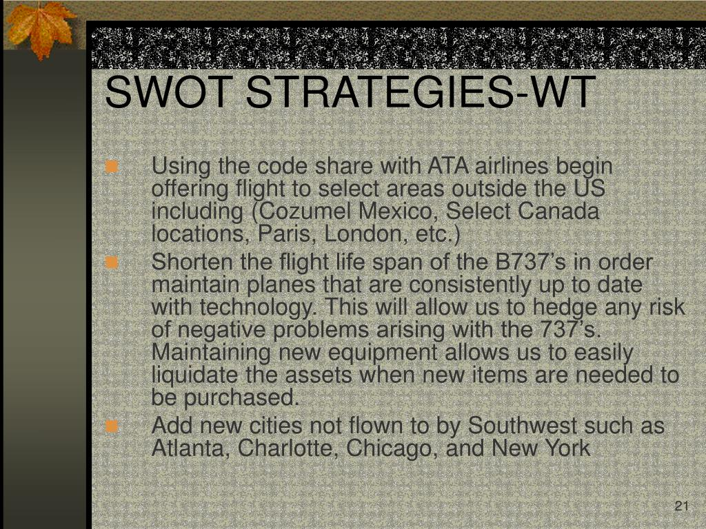 SWOT STRATEGIES-WT