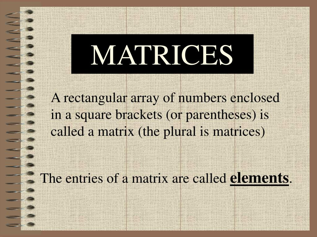 matrices l.