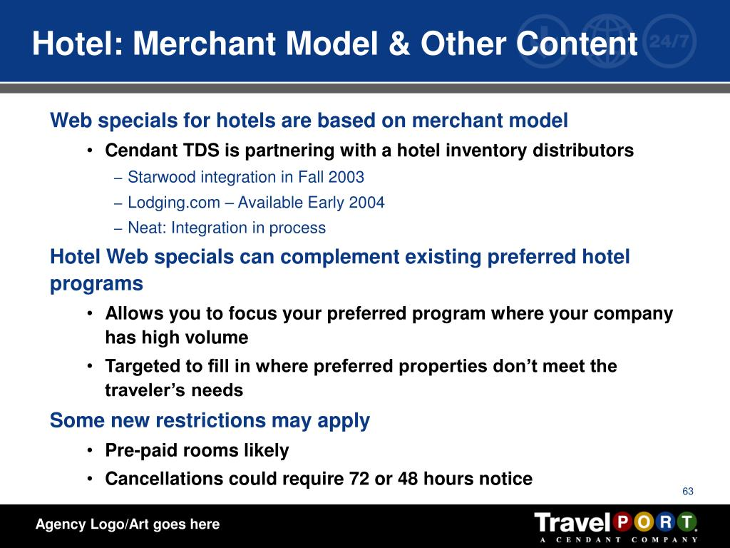 Hotel: Merchant Model & Other Content