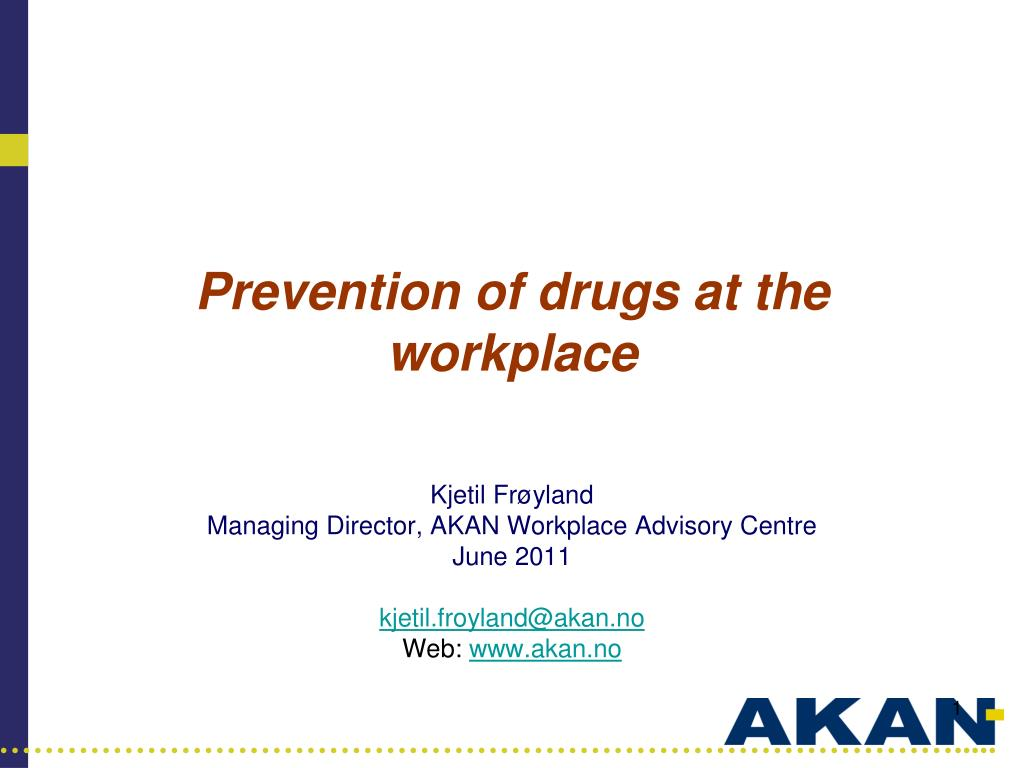 prevention of drugs at the workplace l.