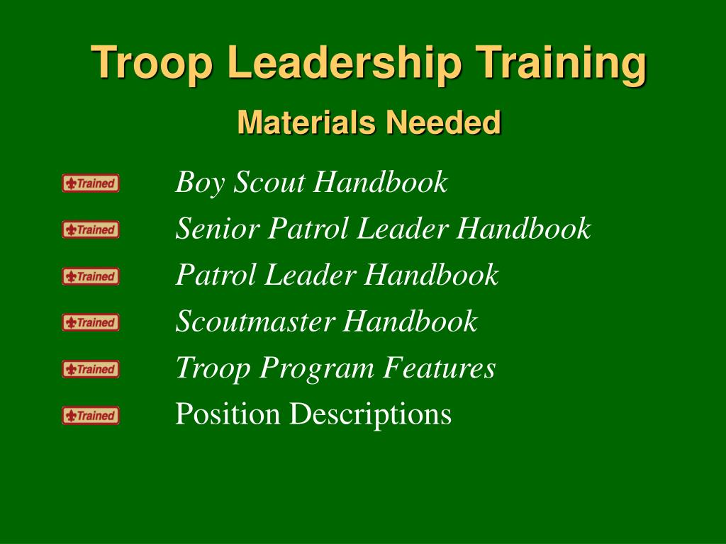 Ppt Troop Leadership Training Powerpoint Presentation Free Download Id 724335