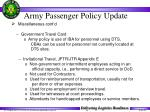 army passenger policy update38