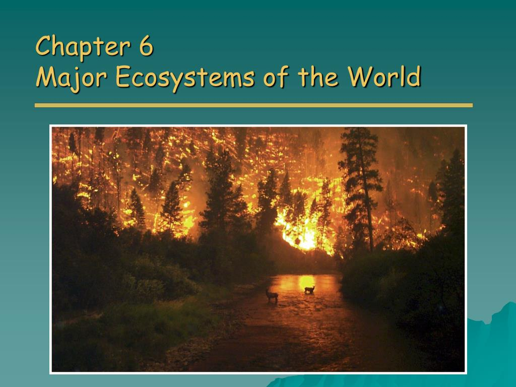 chapter 6 major ecosystems of the world l.