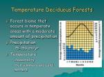 temperature deciduous forests