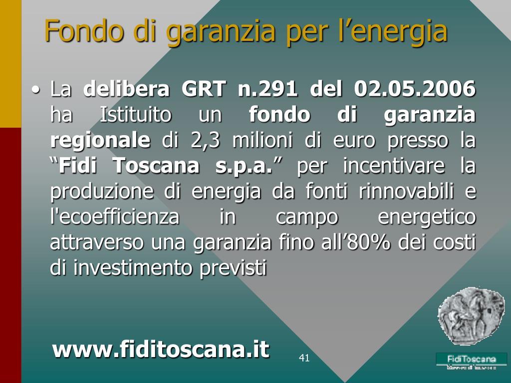 Fondo di garanzia per l'energia