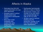 affects in alaska
