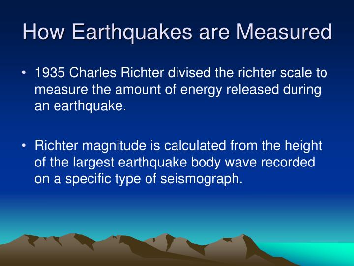 How earthquakes are measured