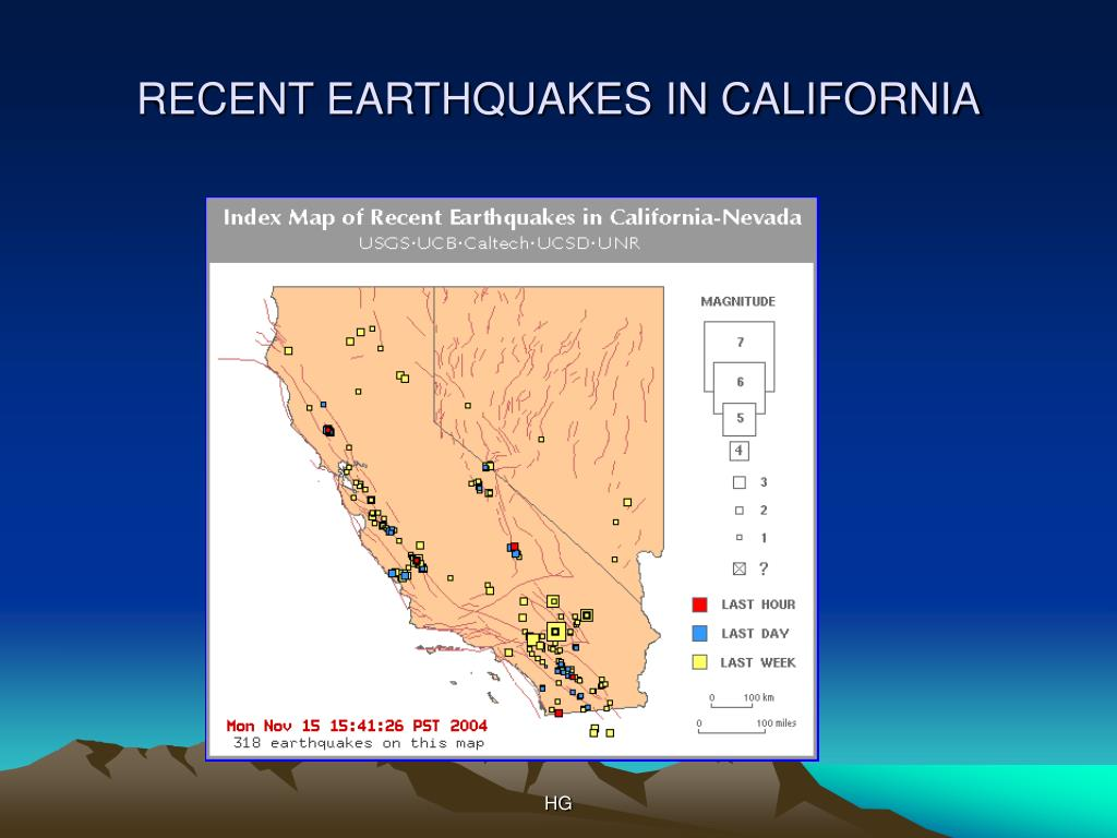 RECENT EARTHQUAKES IN CALIFORNIA