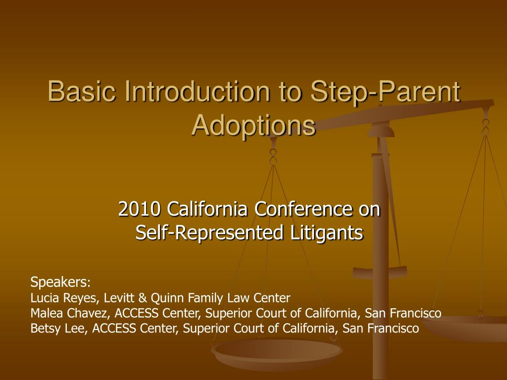 basic introduction to step parent adoptions l.