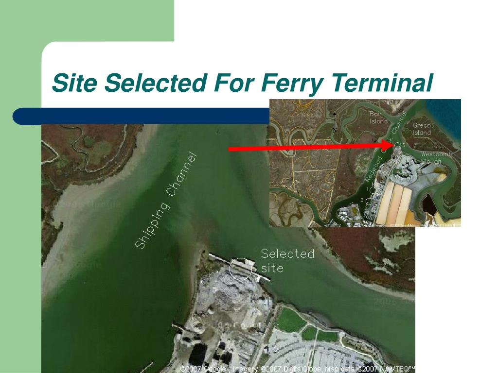 Site Selected For Ferry Terminal