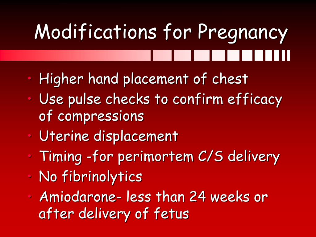 Modifications for Pregnancy