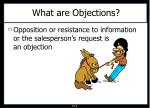 what are objections