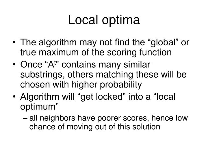 Local optima