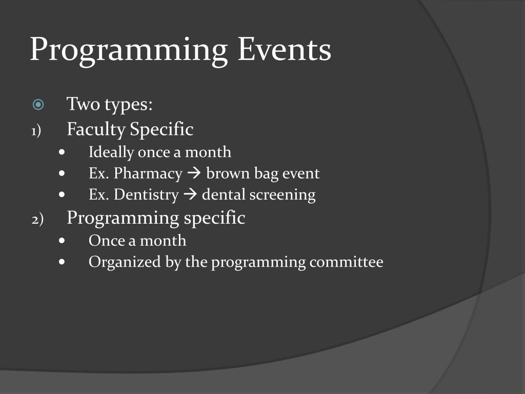 Programming Events