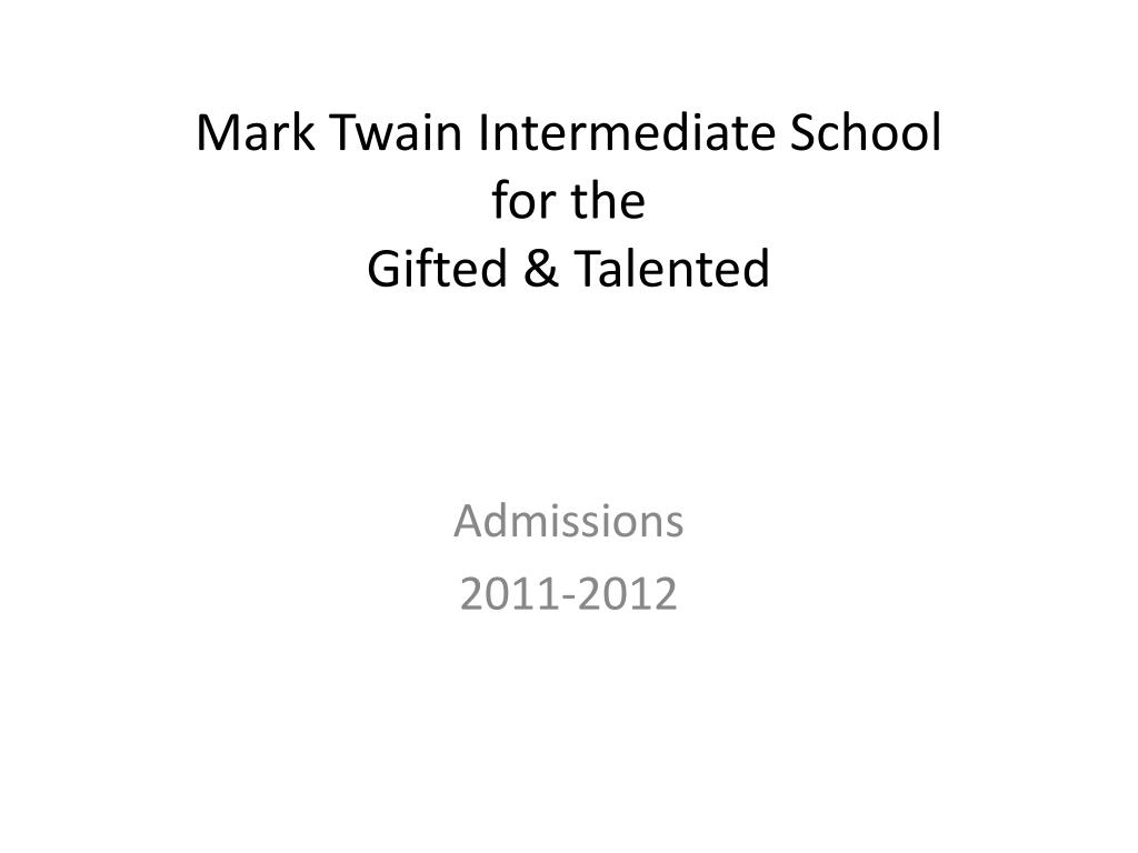 mark twain intermediate school for the gifted talented l.
