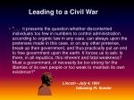 leading to a civil war24