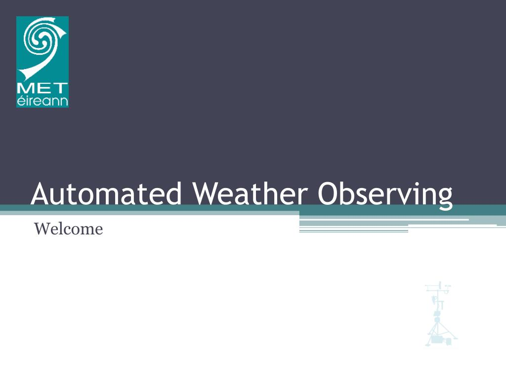 automated weather observing l.