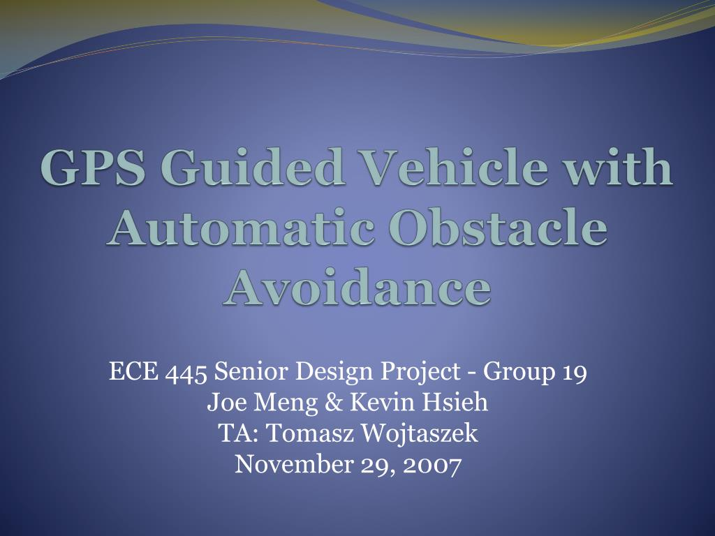 gps guided vehicle with automatic obstacle avoidance l.