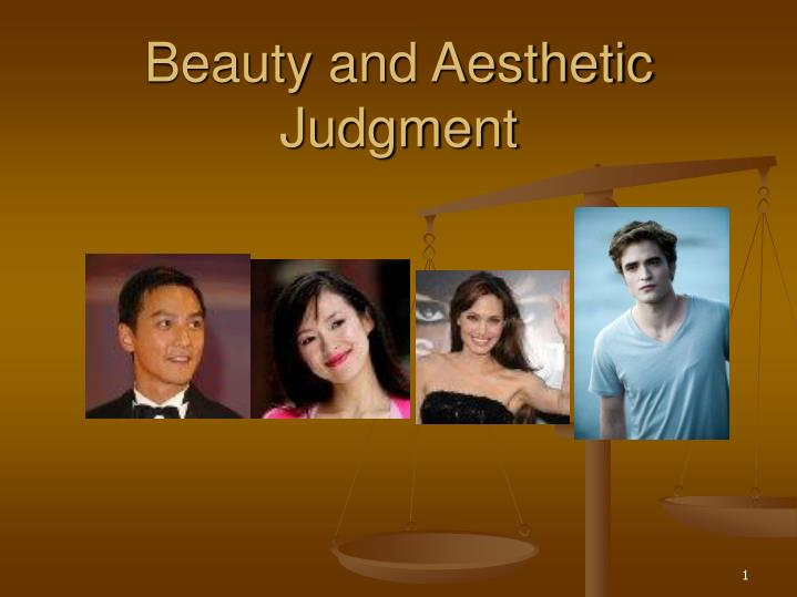 Beauty and aesthetic judgment