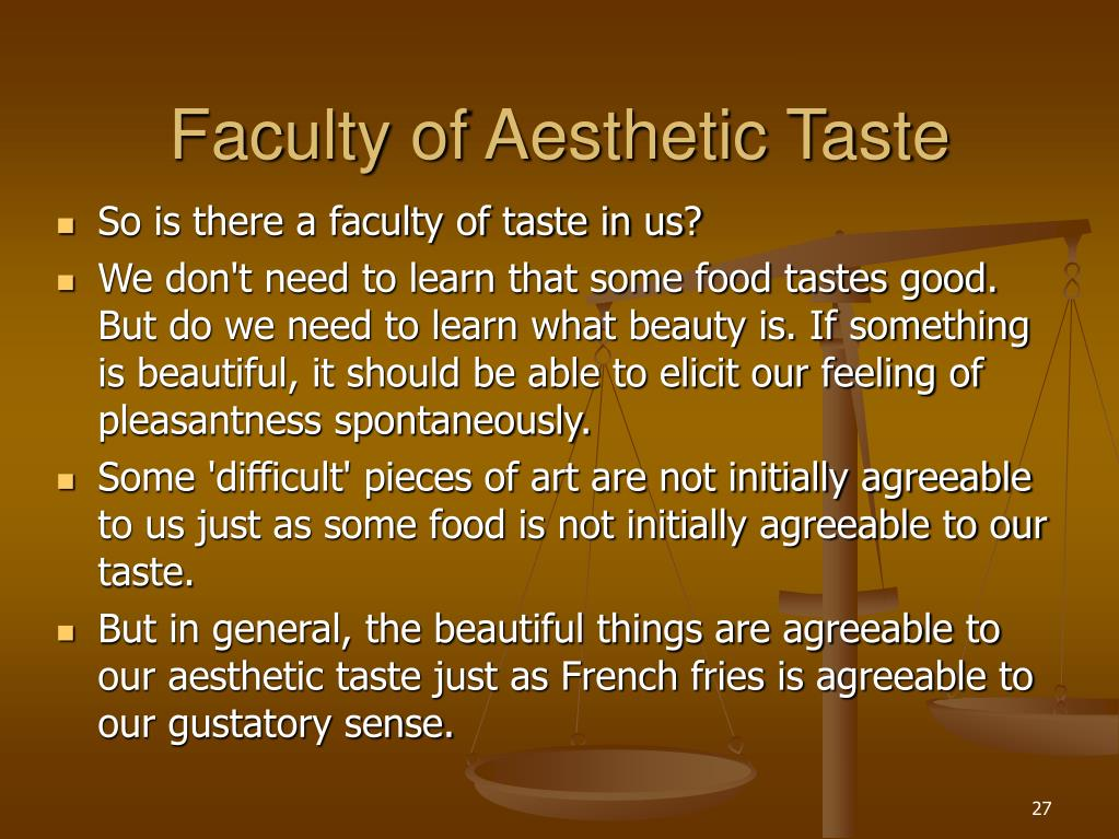 Faculty of Aesthetic Taste
