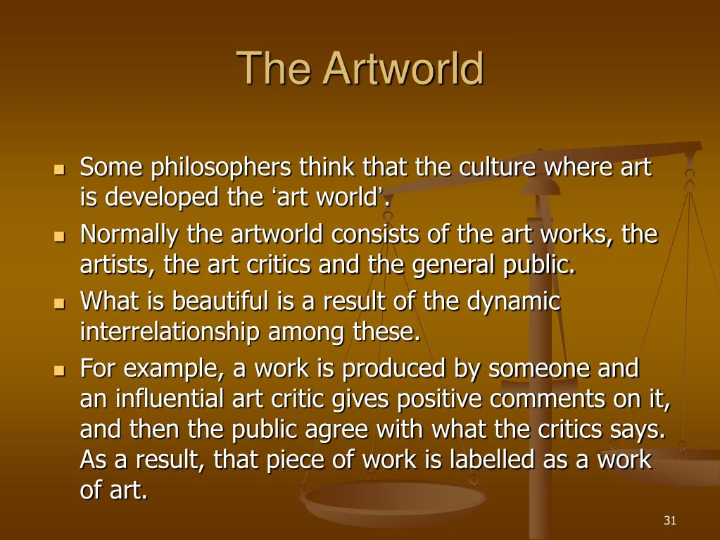 The Artworld