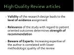 high quality review articles