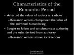 characteristics of the romantic period10