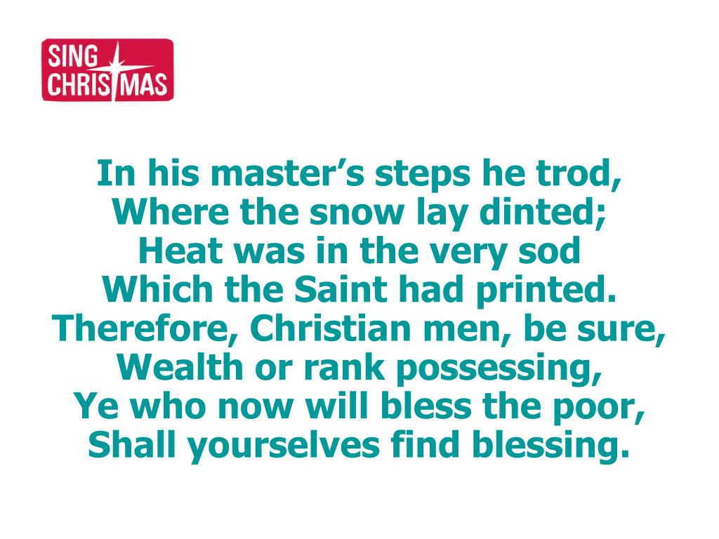 In his master's steps he trod,