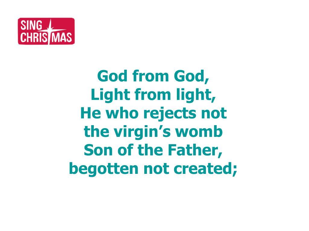 God from God,