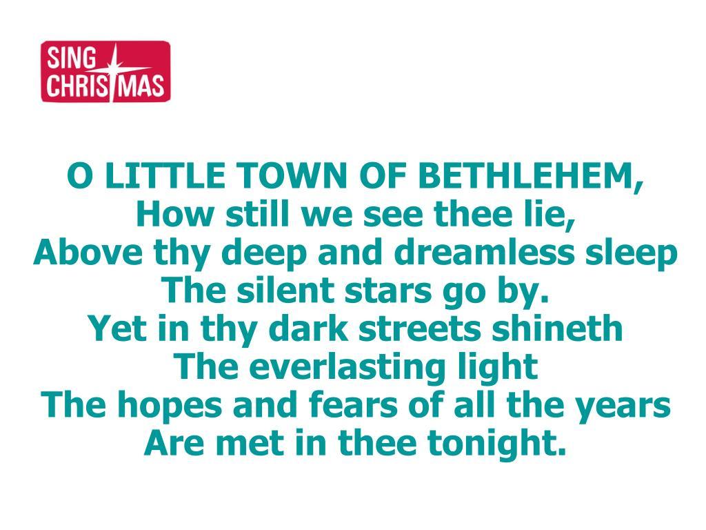 O LITTLE TOWN OF BETHLEHEM,
