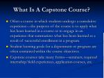 what is a capstone course