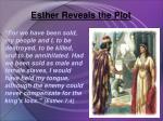 esther reveals the plot