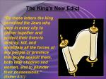 the king s new edict