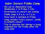 sabir sisters fiddle camp