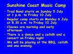 sunshine coast music camp