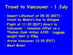 travel to vancouver 1 july