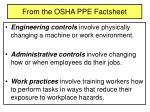 from the osha ppe factsheet
