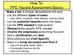 how to ppe hazard assessment basics